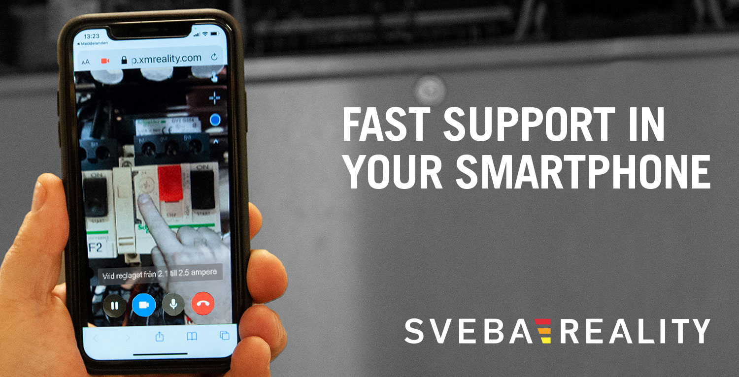 Fast support in your mobile phone with Sveba Reality