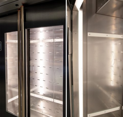 Proofer, Retarder, Freezer Cabinet F-Series F500 Sveba Dahlen Bakery Supermarket Dough Prover Bright LED Light large windows