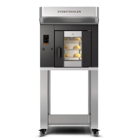 Instore rack oven S-Series SR120 for baking on trays. Flexible baking in small space, bake all from buns, to cakes and macarons.