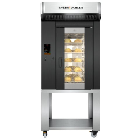 High capacity in-store baking oven. S-Series has a rotating rack, high quality steam system and heating system. Get the best baking results in store with S-Series.