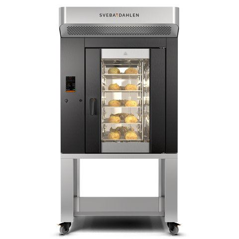 High Capacity supermarket and cafe oven. Energy efficient baking with the best results. Commercial baking in limited space.