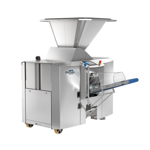 Heavy duty dough divider for industrial bakeries, high weight accuracy with the Glimek SD600