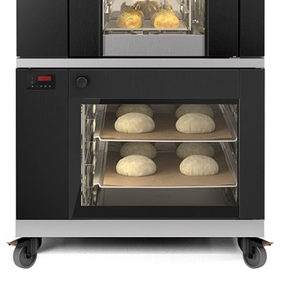 Underbuilt proofer with optimized fermentation for the S-Series bakery oven.