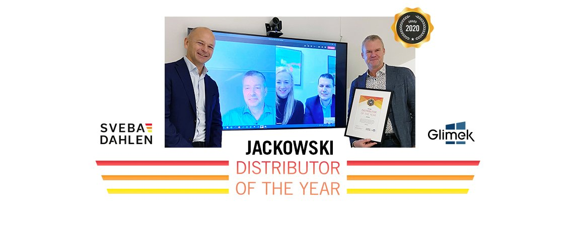 Distributor of the year 2020 Jackowski bakery machines ovens Sveba Dahlen